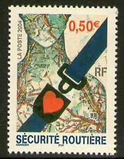TIMBRE 3659 NEUF XX LUXE - SECURITE ROUTIERE - CEINTURE DE SECURITE - CARTE