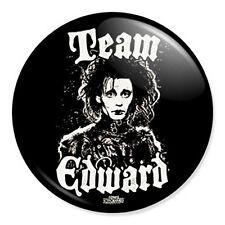 "Team Edward Scissorhands 25mm 1"" Pin Badge Button Twilight Novelty Johnny Depp"