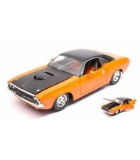DODGE CHALLENGER R/T 1970 ORANGE/BLACK 1:24