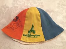 Walt Disney World, Vintage Youth Sun Hat, Walt Disney Productions, Tricolor