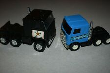 Vintage 1980's REMCO U.S.A. made BUDDY L. JAPAN pressed steel MACK semi-trucks.