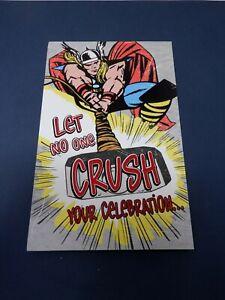 Thor Happy Birthday Greeting Card American Greetings Marvel New HC2779