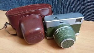 Carl Zeiss Werra 3 (III) Olive 35mm Film Rangefinder Camera Synchro-Compur +Case