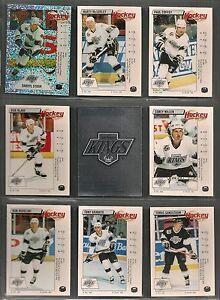 1992-93 Panini Hockey Stickers Los Angeles Kings Team Set (16) (2 W.Gretzky)