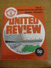 16/10/1971 Manchester United v Derby County [Derby's 1st Ever Championship Seaso