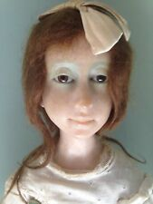 "Avigail Anna Brahms ""Young Girl"" 21"" Fimo Artist Signed Doll One Of A Kind"