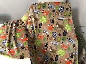 Large Supersoft Cuddle Fleece Wildlife Print Dog Blanket. Great Xmas Gift 🎁