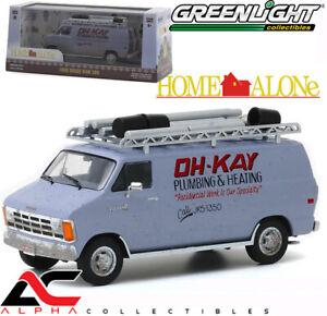 GREENLIGHT 86560 1:43 1986 DODGE RAM VAN OH-KAY PLUMBING & HEATING (HOME ALONE)