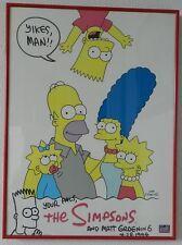 """1994 """"The Simpsons Family"""" Matt Groening Signed 17"""" x 24""""  framed poster"""