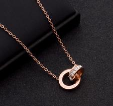 歐美時尚流行飾品 閃鑽珍珠項鍊