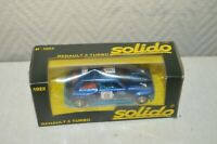 VOITURE SOLIDO RENAULT 5 TURBO RALLYE 1/43 CAR/AUTO VINTAGE BOITE  DECAL 1981