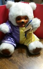 VTG Signed Numbered LE Robert Raikes The Court Jester Wood Face Teddy Bear