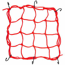 Red Bungee Cord Cargo Net Motorcycle Helmet Mesh Storage Tie Down Adjustable