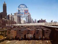 "1943 Freight Depot IL Central RR Chicago Vintage Photograph 8.5"" x 11"" Reprint"