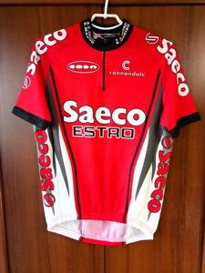 Saeco Estro Cannondale Cycling Shirt Jersey Vintage Half zip size ~EU XL