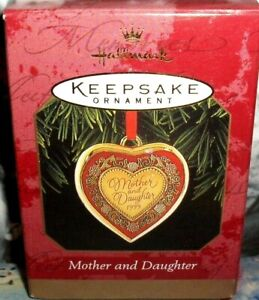 Mother And Daughter`1999`Have Special Kind Of Heart,Hallmark Ornament-FREE SHIP