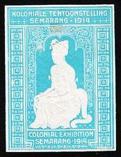 VINTAGE CINDERELLA Colonial Expo Semarang Indonesia 1914 Old HingeTape Remnant H