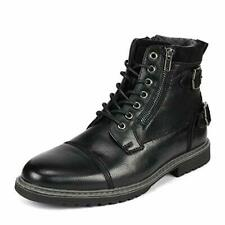 Bruno Marc Men Motorcycle Combat Riding Oxford Dress Chelsea Ankle Leather Boots