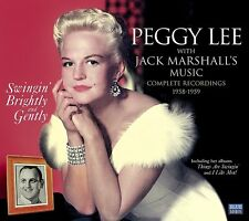 SWINGIN' BRIGHTLY AND GENTLY PEGGY LEE WITH JACK MARSHALL'S MUSIC + 10 SINGLE