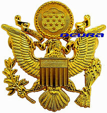 WWII US ARMY MILITARY OFFICERS CAP EAGLE BADGE INSIGNIA GOLDEN