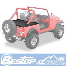 Bestop Duster Deck Cover 80-91 Jeep CJ7 & Wrangler YJ Black Denim w/ Supertop