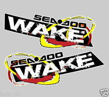 2x Sea doo Wake JETSKI DECAL STICKER GTX GTI GSX RXP XP RTX BUMBER vinyl