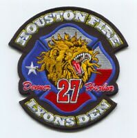 Houston Fire Department Station 27 Patch Texas TX v2