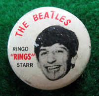 RINGO STARR BEATLES ORIGINAL 1964 PINBACK BUTTON #586