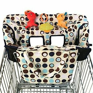 Croc N Frog 2-in-1 Shopping Cart Cover and High Chair Cover for Baby Boy or G...