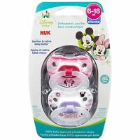 NUK Disney Baby Puller Pacifier in Mickey, Minnie Colors and Styles, 6-18 Months