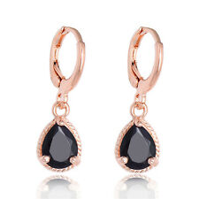 18K Rose Gold Plated CZ Women/Teens Drop/Dangle Earrings Wrap