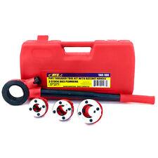 "Hfs(R) Pipe Threader Tool Kit Ratchet Handle + 3 Dies Set- 1/2"", 3/4"", 1"" + Case"