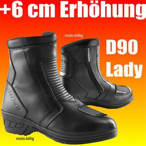 Büse Damen Motorradstiefel D90 kurz 6cm Sohlenerhöhung Motorrad Stiefel Frauen