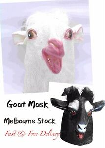 Latex Goat Head  Rubber Mask Head Face Sheep Halloween Costume Party Animal Cosp