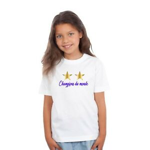 T-shirt ENFANT CHAMPIONS DU MONDE COUPE DU MONDE 2018 2 ÉTOILES ÉQUIPE DE FRANCE
