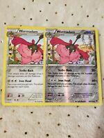 Pokemon TCG x2 Wormadam #59/124 1 Reverse Holo XY Fates Collide Mint English