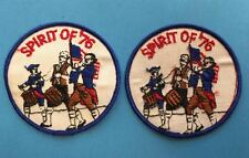 2 Lot Rare Vintage 1776 1976 Bicentennial Backpack Jacket Vest Hat Patches HH