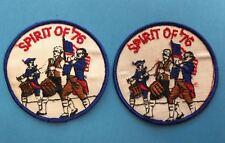 2 Lot Rare Vintage 1776 1976 Bicentennial Backpack Jacket Vest Hat Patches HH