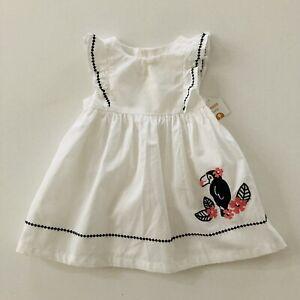Gymboree Baby Girl 6-12 Months White Dress Toucan