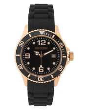 MEN'S ROSE GOLD PLATED WATCH - Nikken Magnets & Silicon Strap with Ceramic Fiber