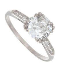 1.40ct Old European Cut Certified Diamond Engagement Ring