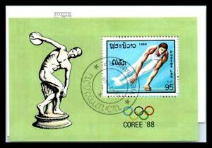 1988 LAOS Souvenir Sheet - Olympic Games - Seoul, Korea N1