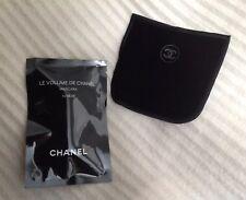 CHANEL LE VOLUME MASCARA 10 Noir 1ml & BLK VELVETEEN MAKE UP POUCH COVER 9.5x9cm