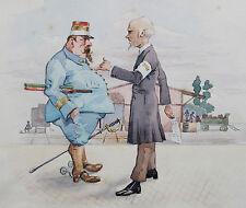 1914 1918 Première guerre mondiale Album 13 aquarelles originales Bibliophilie