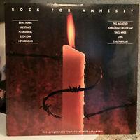 "AMNESTY INTERNATIONAL Compilation - Rock For Amnesty - 12"" Vinyl Record LP - EX"