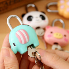Cute Animal Cartoon 5pcs Locks Luggage Desk Notebook Lock Student Kid Gift Prize