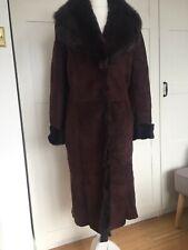 Genuine 100% Lamb Sherling Coat Winter Fur Size M