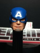 MARVEL LEGENDS PAINTED/FITTED ULTIMATE CAPTAIN AMERICA HEAD 1:12 HEAD CAST