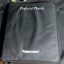 Tupperware New LOGO Black Consultant 3-Ring Binder Case ONLY