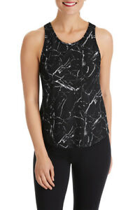 Marble Black Mesh Tank - Women's Gym & Yoga Top - Bonds – 40% Off RRP- New